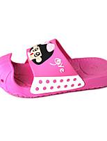 Girls' Slippers & Flip-Flops Comfort PVC Spring Summer Outdoor Athletic Casual Flat Heel Blushing Pink Blue Navy Blue Flat