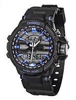 Homens Relógio Esportivo Relógio de Moda Quartzo Silicone Banda Preta