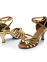 Women's Latin Silk Sandals Indoor Customized Heel Gold Customizable