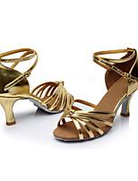 Feminino Latina Courino Sandálias Interior Salto Personalizado Dourado Personalizável