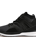 Men's Sneakers Comfort Spring Summer Fall Winter Spandex Tulle Casual Party & Evening Outdoor Lace-up Flat Heel Black Gray Green Flat