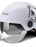 Motorcycle Helmet Electric Car Helmet Summer Four Seasons Winter Half-Style Helmet Sunscreen White Bear All Code