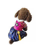 Dog Costume Dog Clothes Cosplay Embroidered Red Blue