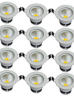 12pcs/lot Round Recessed LED Downlight AC 85-265V COB LED Spot Lamp 3W Angle Adjustable Ceiling Downlight for Home/Office