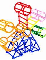 Approx 360PCS Interlocking Assembly Plastic DIY Smart Intelligence Stick 3D Building Blocks Construction Educational Toys Set Random Shape Color