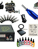 1 Set High Born Tattoo Kit HZ6 With 7x15ML Inks 5 Needles Power Supply Switch