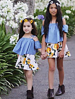 Girls' Fashion Floral Print Clothes Sets Summer Short Skirt Clothing Baby Set