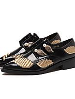 Для женщин Мокасины и Свитер Удобная обувь Полиуретан Весна Повседневные Удобная обувь Черный На плоской подошве