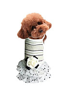 Dog Dress Dog Clothes Casual/Daily Princess Beige Blushing Pink