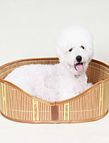 Dog Bed Pet Baskets Solid Waterproof Portable Double-Sided Breathable Foldable Random Color