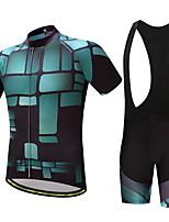 Maglia con salopette corta da ciclismo Per uomo Bicicletta Set di vestiti Antiscivolo Ben ventilato Ad alta capillarità Morbidezza