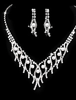 Women's Drop Earrings Choker Necklaces Bridal Jewelry Sets Rhinestone AAA Cubic Zirconia Vintage Elegant  Jewelry For Wedding Party Engagement