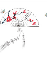 A fleurs/Botanique Mode Stickers muraux Autocollants avion Autocollants muraux décoratifs,Papier Matériel Décoration d'intérieurCalque
