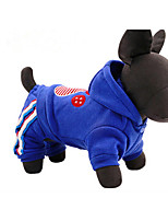 Dog Hoodie Dog Clothes Casual/Daily Animal Blue Ruby