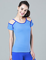 Women's Running T-Shirt with Shorts Quick Dry Breathable T-shirt Sweatshirt Tank Running T-Shirt + Shorts forYoga Pilates Exercise &