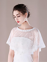 Women's Wrap Capelets Lace Wedding Party/ Evening Lace-trimmed Bottom