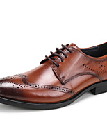 Men's Wedding Shoes Formal Shoes Cowhide Leather Spring Fall Wedding Office & Career Party & Evening Formal Shoes Burgundy Coffee Black