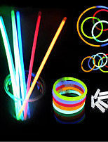 100 Pcs Mix Glow Stick Creative Design Safe Glow Stick Light Necklace Event Festive Party Supplies