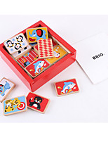 Building Blocks Educational Flash Cards Domino & Tile Games For Gift  Building Blocks Square Wooden 6 Years Old and Above 3-6 years old