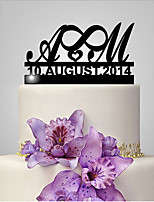 Personalized Acrylic Monogram Wedding Cake Topper