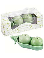 Practical Favor Two Peas In A Pod Salt & Pepper Shakers Wedding Favors 12 x 5.8 x 4 cm/box