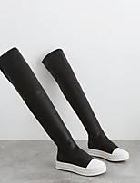 Women's Boots Comfort PU Spring Casual Comfort Black Flat