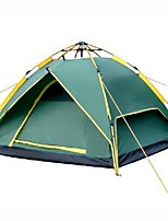 3-4 persons Tent Double Automatic Tent One Room Camping Tent 2000-3000 mm Aluminium TeryleneWaterproof Quick Dry Rain-Proof Dust Proof