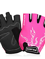 Sports Gloves Unisex Cycling Gloves Spring Summer Bike Gloves Wearable Breathable Protective Durable Sweat-Wicking Fingerless Gloves Lycra