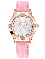 Women's Fashion Watch Quartz Leather Band White Blue Pink