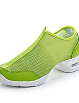 Women's Modern Breathable Mesh Split Sole Practice Flat Heel Green Black Under 1