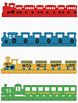 Cartoon Wood Train Styling Learning Office Stationery Measuring Tool Ruler 1PC