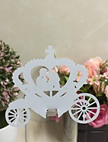 50pcs Bride and Groom Carriage Laser Cut Place Cards Wedding Name Cards Guest Name Place Card Wedding Table Decoration Supplies
