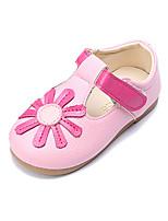Mädchen Sneaker Komfort Lauflern PU Frühling Herbst Normal Kleid Komfort Lauflern Blume Klettverschluss Flacher Absatz Weiß Gelb Rosa