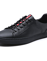 Men's Athletic Shoes Comfort Summer Fall Fabric Walking Shoes Casual Lace-up Flat Heel Black Flat