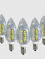 4W LED лампы в форме свечи C35 40 SMD 2835 450-500 lm Тёплый белый Белый V 5 шт.