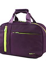 Unisex Travel Bag Nylon All Seasons Casual Sports Outdoor Weekend Bag Zipper Purple Dark Blue Red Black Blue
