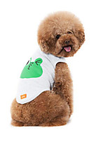 Cachorro Colete Roupas para Cães Casual Desenhos Animados Branco Cinzento