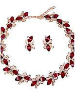 Women's Jewelry Set Necklace/Bracelet Bridal Jewelry Sets Rhinestone Euramerican Fashion Vintage Simple Style Classic Chrome Rhinestones