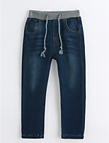 Pantalons Garçon Couleur Pleine Coton Printemps Automne