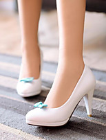 Femme Chaussures à Talons Confort Polyuréthane Printemps Décontracté Confort Blanc Rose Plat