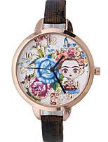 Жен. Модные часы Наручные часы Кварцевый Кожа Группа Цветы Богемные Черный Красный Коричневый Золотистый Темно-синий Роуз