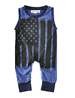 Baby Print One-Pieces Cotton Summer Sleeveless American Flag Baby Boys Romper Bodysuits Jumpsuits Newborn Kids Clothes