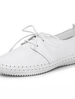 Men's Oxfords Comfort PU Spring Fall Outdoor Comfort Flat Heel Black White Flat