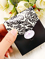 12pcs Black and Ivory Favor Bag With Ribbon 8.8 x 7.5 x 3.5 cm Beter Gifts® Wedding Decor