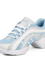 Для женщин Танцевальные кроссовки Натуральная кожа Кроссовки Для открытой площадки На низком каблуке Белый Черный Красный Синий2,5 - 4,5
