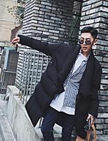 Пальто Простое Активный На подкладке Для мужчин,Однотонный Повседневные Хлопок Полиэстер Хлопок,Длинный рукав