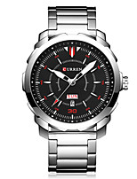Women's Men's CURREN The New Double Calendar Business Waterproof Steel Band Quartz Watch