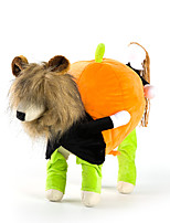 Dog Costume Dog Clothes Halloween Solid Green Yellow Black