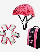 Kids' Adult Protective Gear Knee Pads + Elbow Pads + Wrist Pads Skate Helmet for Cycling Skateboarding Inline Skates Roller Skates