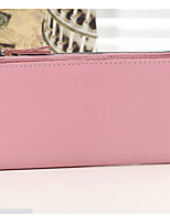 Women Checkbook Wallet Cowhide All Seasons Casual Rectangle Zipper Blushing Pink Ruby Aquamarine